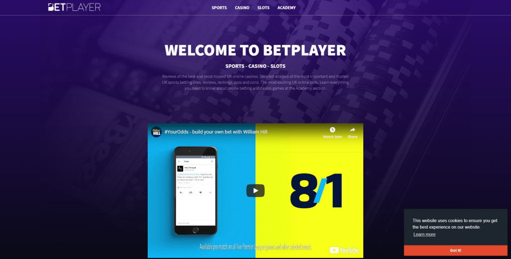 betplayer home page