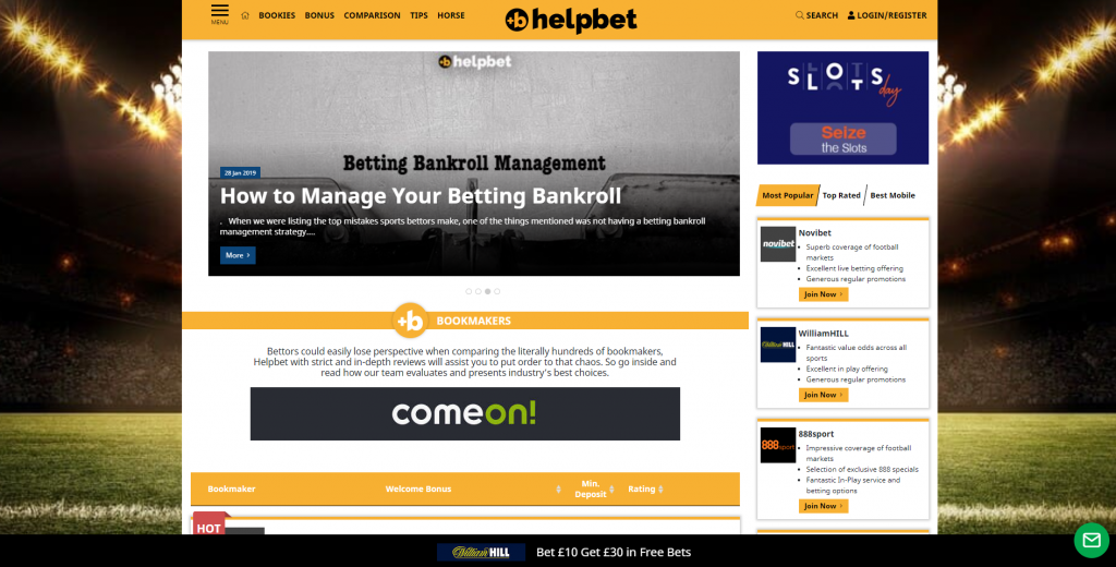 helpbet home page